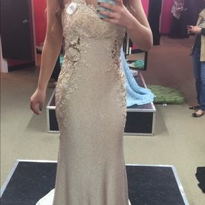 Beautiful champagne colored Prom dress